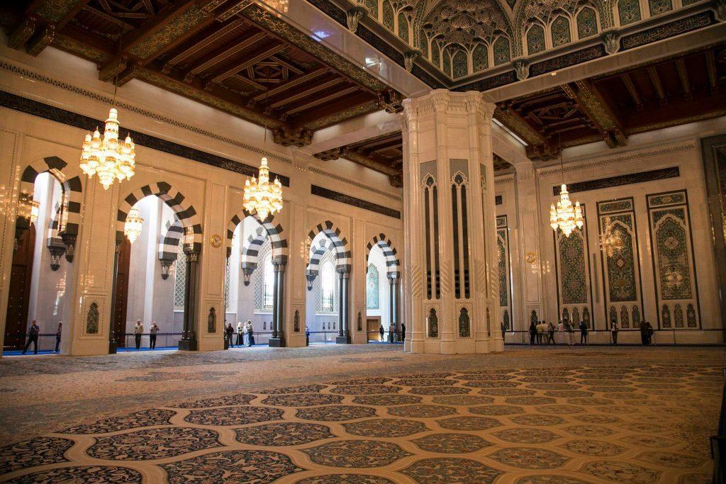 Tappeto sala di preghiera Grande Moschea del Sultano Al Qaboos