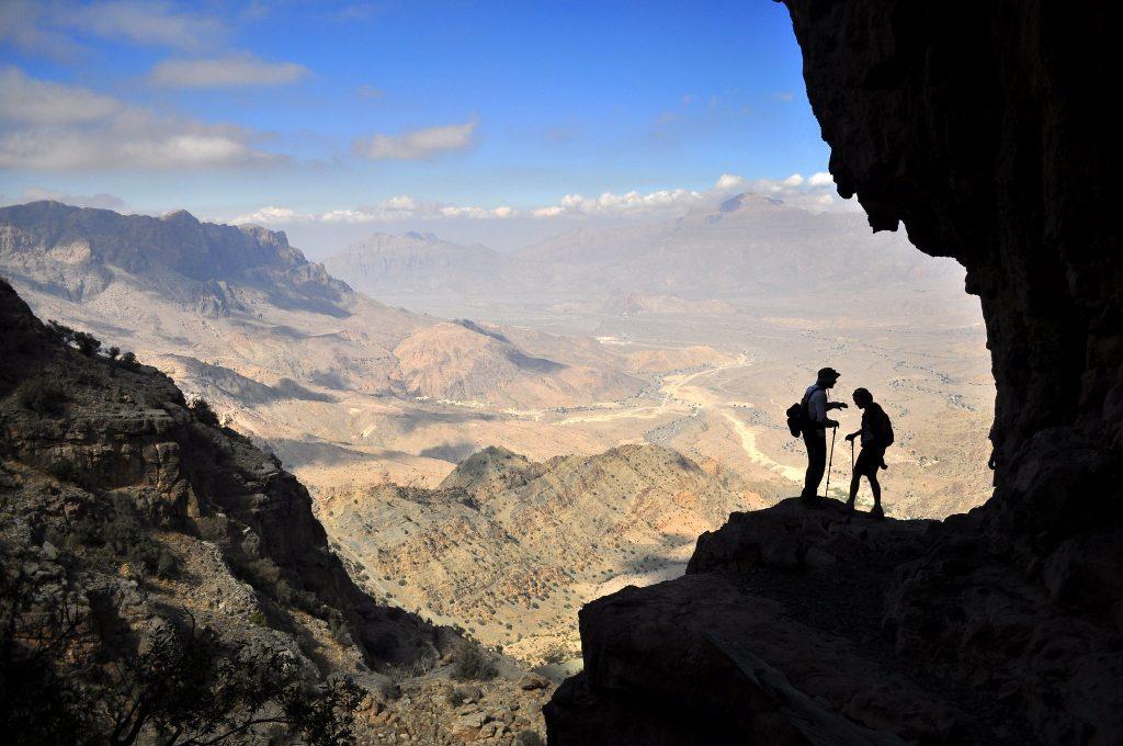 trekking sulle montagne omanite