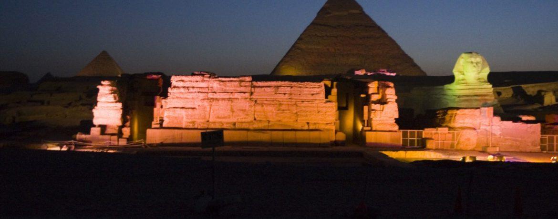 Spettacolo luci e suoni alle Piramidi