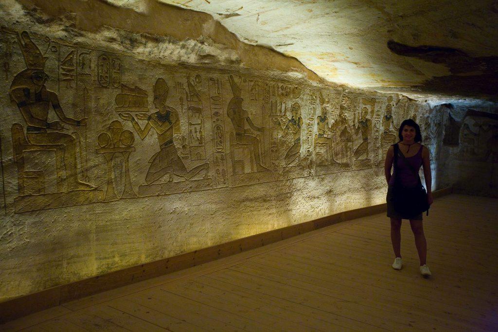 interno del tempio di Abu Simbel