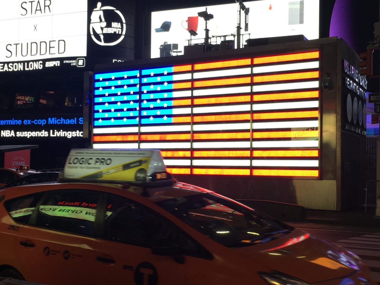Bandiera Americana- Times Square