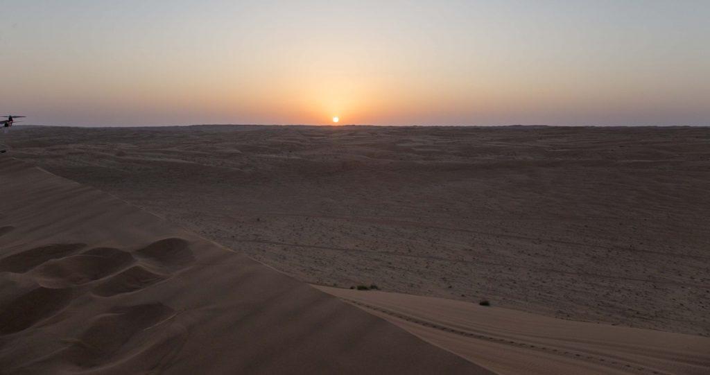 tramonto al Wahiba Sands