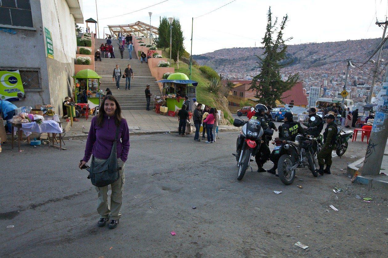 La Paz durante le elezioni della corte di giustizia