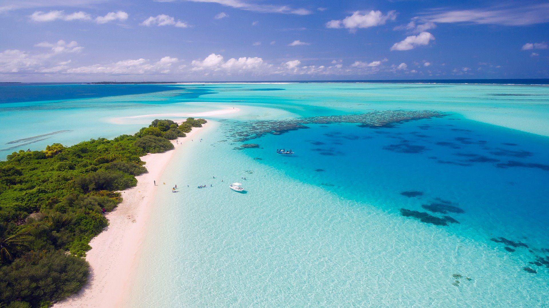 Maldive dall'alto