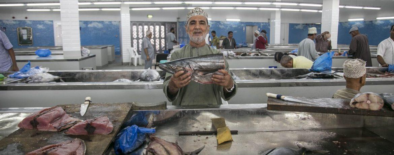 Mercato del pesce a Muscat